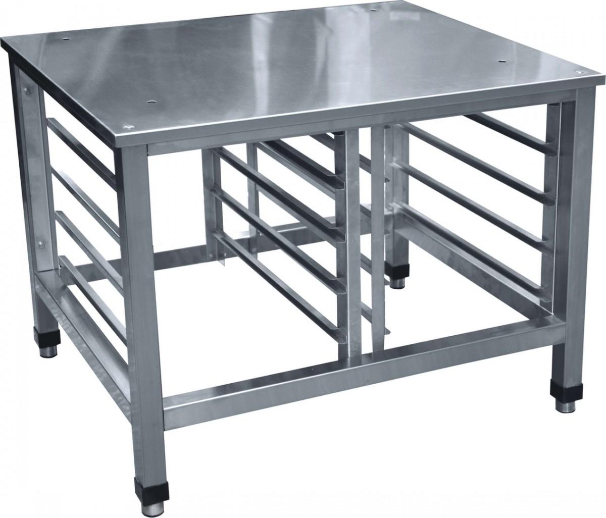 Подставка под пароконвектомат 1000*800*700 нерж. сталь, 5 уровней, 2 ряда гастр. 530*325, напр.800